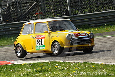 Mini Cooper Racing Editorial Stock Photo