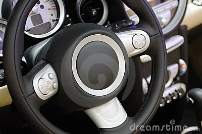 Mini cooper s car steering wheel