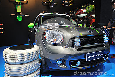 Mini countryman suv front Editorial Image