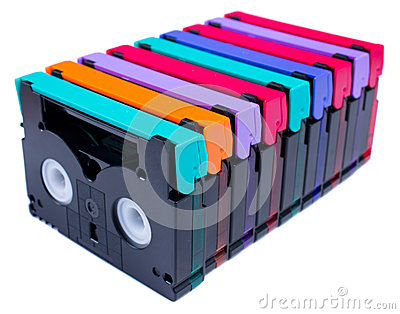 Mini DV Tape colorful isolate