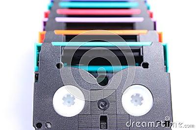 Mini DV Tape colorful isolate