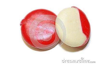 Mini edam cheeses