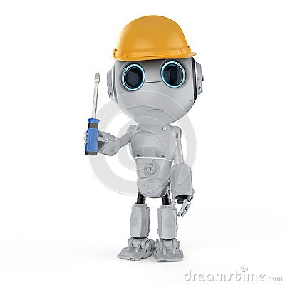 Free Mini Engineer Robot Stock Photo - 129259340