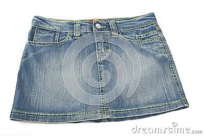 Mini falda del dril de algodón