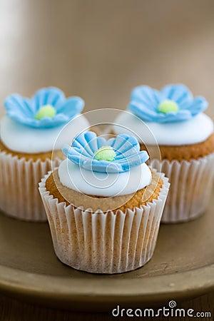 Free Mini Flower Cupcakes Stock Photo - 10579530