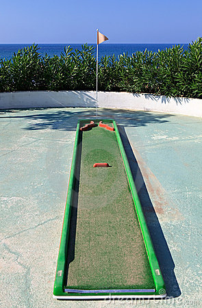 Mini Golf on the beach.
