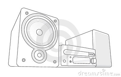 Mini Hifi vector illustration