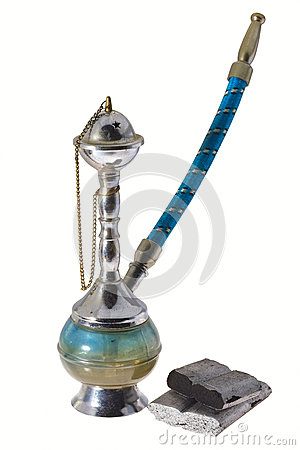 Mini hookah isolated.