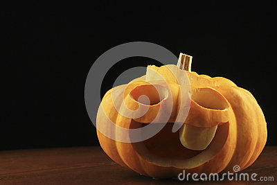Mini Jack-o-Lanterns on a Wooden