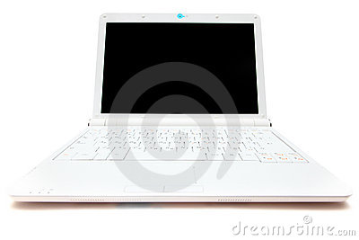 Mini laptopu biel