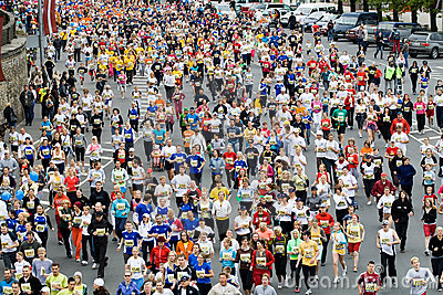 Mini Marathon runners Editorial Stock Image