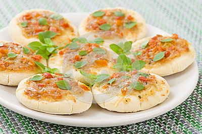 Mini Margherita pizze