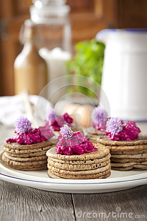 Mini pancake del grano saraceno