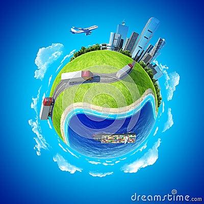 Free Mini Planet Concept Transportation Stock Photo - 24631600