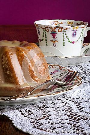 Mini Pound Cake - Almond Lemon Drizzle, Purple Background