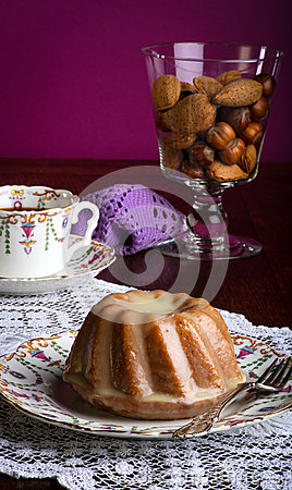 Mini Pound Cake - Almond Lemon Drizzle, Purple Background