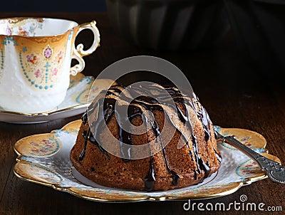 Mini Pound Cake - Hazelnut Cake With Chocolate Drizzle