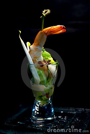 Mini prawn cocktail royalty free stock images image for Mini prawn cocktail canape