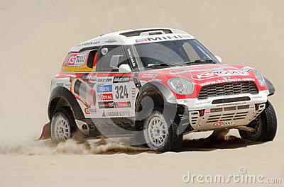 Mini races in Rally Dakar 2013 Editorial Photo