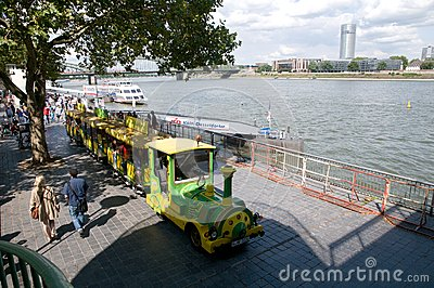 Mini Train - sightseeing tour in Cologne Editorial Photography