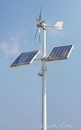 Mini wind power and solar panels