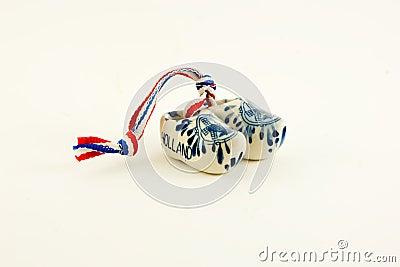 Miniature ceramic Dutch clogs