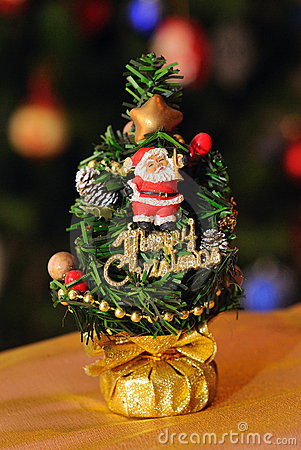 Miniature decorated tree
