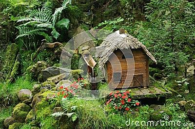 Miniature fairy tale cabin