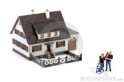 Miniature family and house