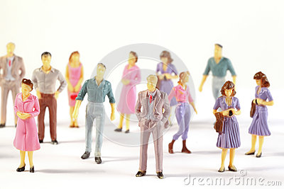 Miniature figures of human