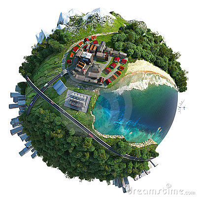 Free Miniature Globe Landscape Diversity Stock Images - 20667894