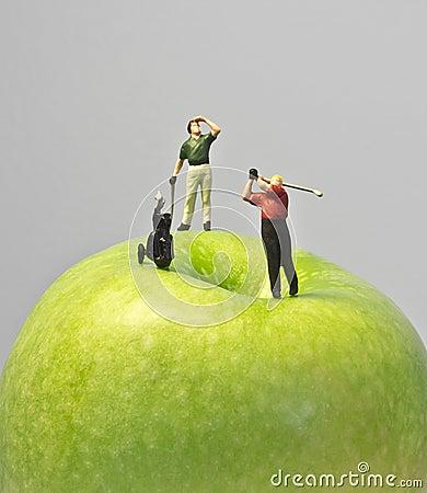 Miniature golf on apple