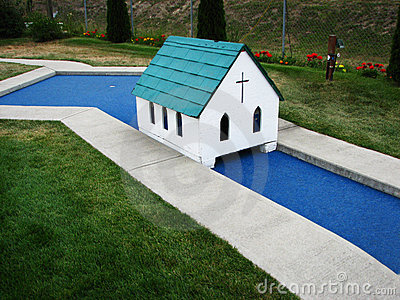 Miniature Golf Church Hole