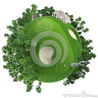 Free Miniature Golf Planet Royalty Free Stock Photos - 17169218