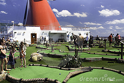 Miniature golf at sea Editorial Photo