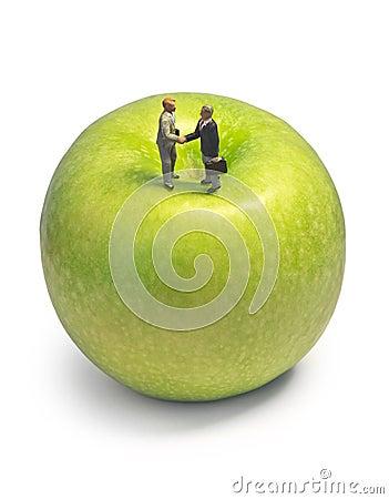 Miniature handshake apple