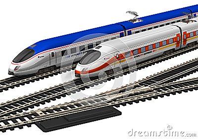 Miniature high speed trains