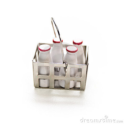 Miniature Milk Bottles