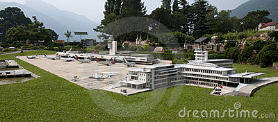 Miniature model (airport) in mini park