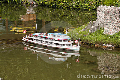 Miniature model (ship) in mini park