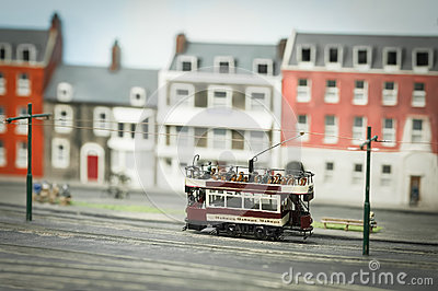 Miniature model tramway