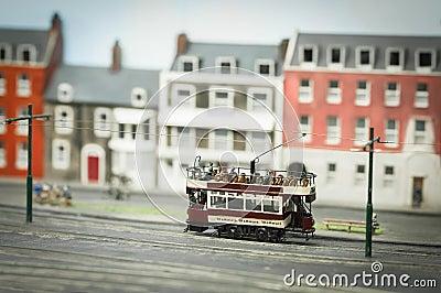 Miniature model tramway