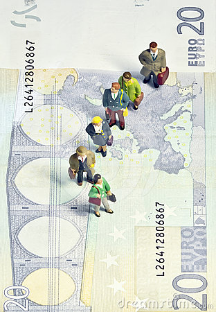 Miniature queue twenty euros