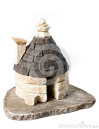 Miniature stone house