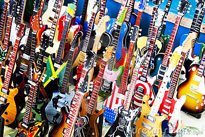 Miniature Toy Guitars