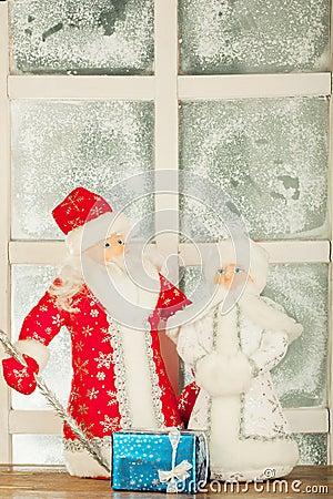 Miniature toy Santa Claus, Snow Maiden