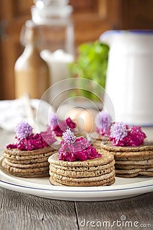 Minibuchweizenpfannkuchen