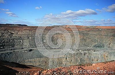Miniera eccellente del pozzo di Kalgoorlie, Australia occidentale