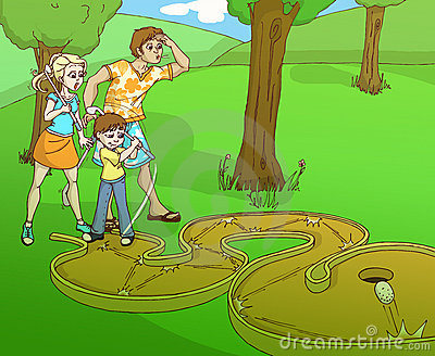 Minigolf family