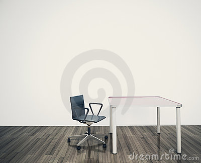Minimal blank interior office